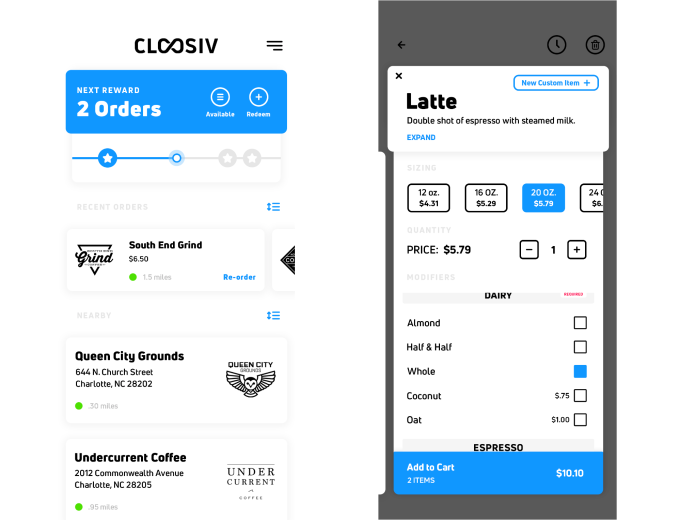 Cloosiv Gives Local Coffee Shops A Mobile Ordering Experience On Par With The Mega Chains Internet Technology News