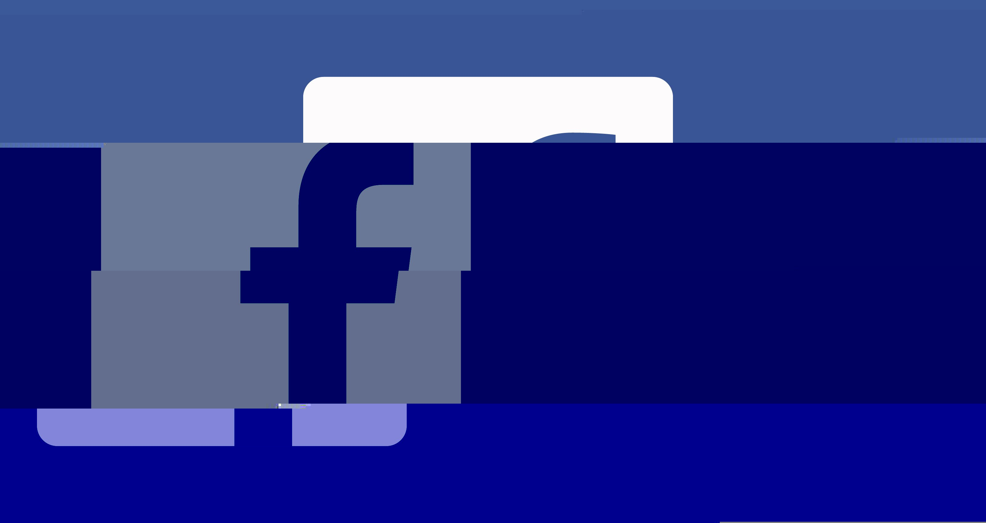 facebook logo down glitch