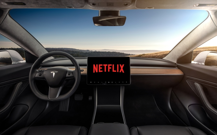 Tesla will deliver in-car YouTube and Netflix video