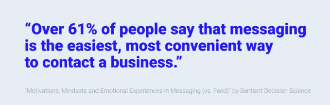 Reaching customers via messengers is a no-brainer | TechCrunch