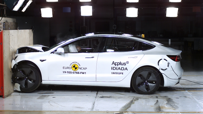 Watch how Tesla Model 3 earned its 5-star safety rating from Euro NCAP