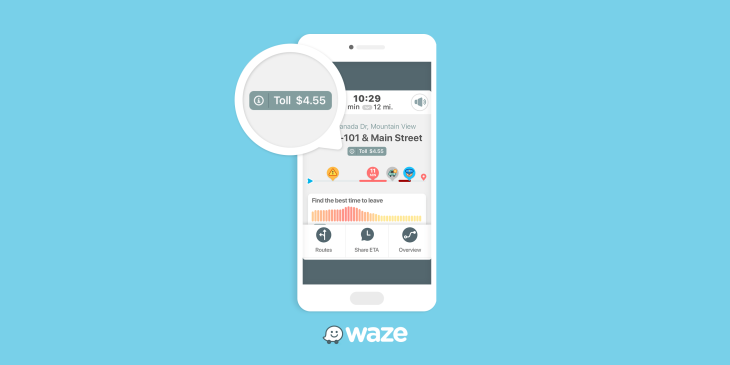 Waze now shows road toll prices along your driving route 1