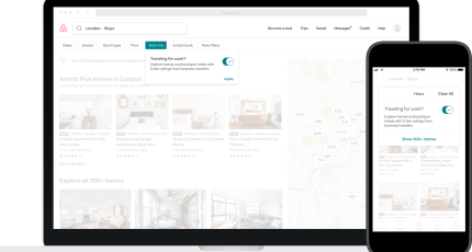 Airbnb introduces new search tools for business travelers