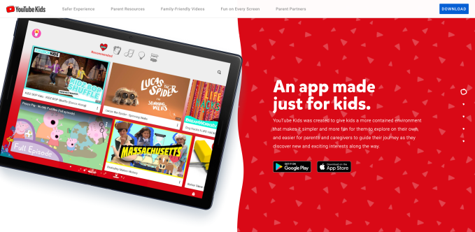 youtube kids website
