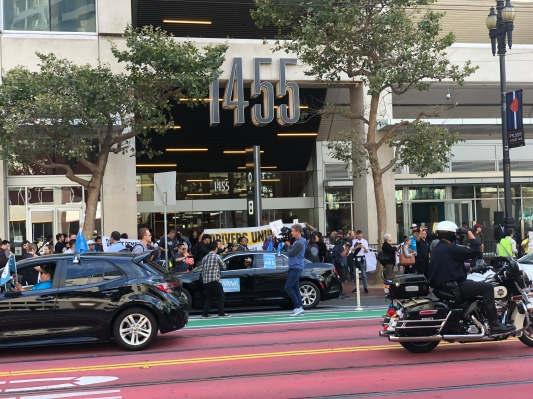 Uber and Lyft drivers are not letting up on the fight for AB-5 and a union