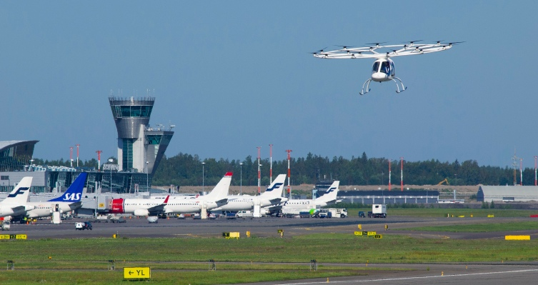 Volocopter's 2X eVTOL records a first with flight at Helsinki International Airport