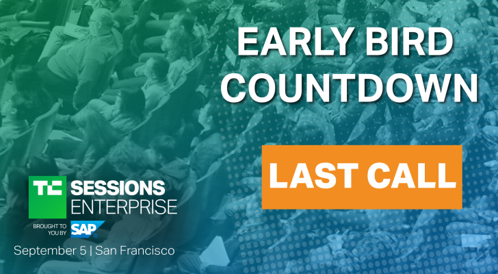 Last chance for early-bird tickets to TC Sessions: Enterprise 2019 – TechCrunch