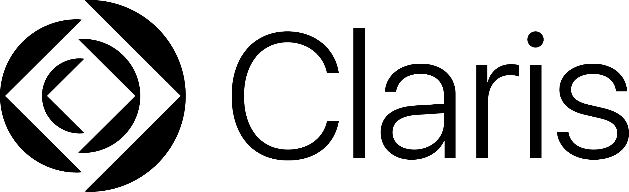 Claris logo rgb blk Apple subsidiary FileMaker Inc. changes its name (back) to Claris Apple subsidiary FileMaker Inc. changes its name (back) to Claris Claris logo rgb blk