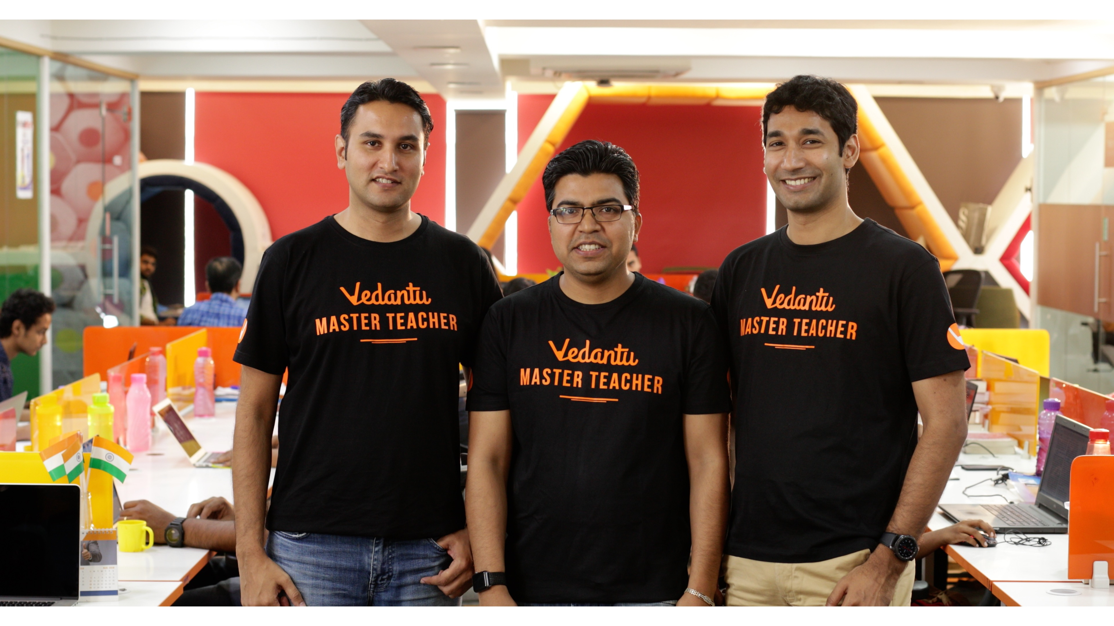 From Right to Left Vamsi Krishna CEO Co founder Anand Prakash Co founder Pulkit Jain Co Founder and Head Product