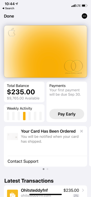 Apple rolls out Apple Card Preview to select users | TechCrunch