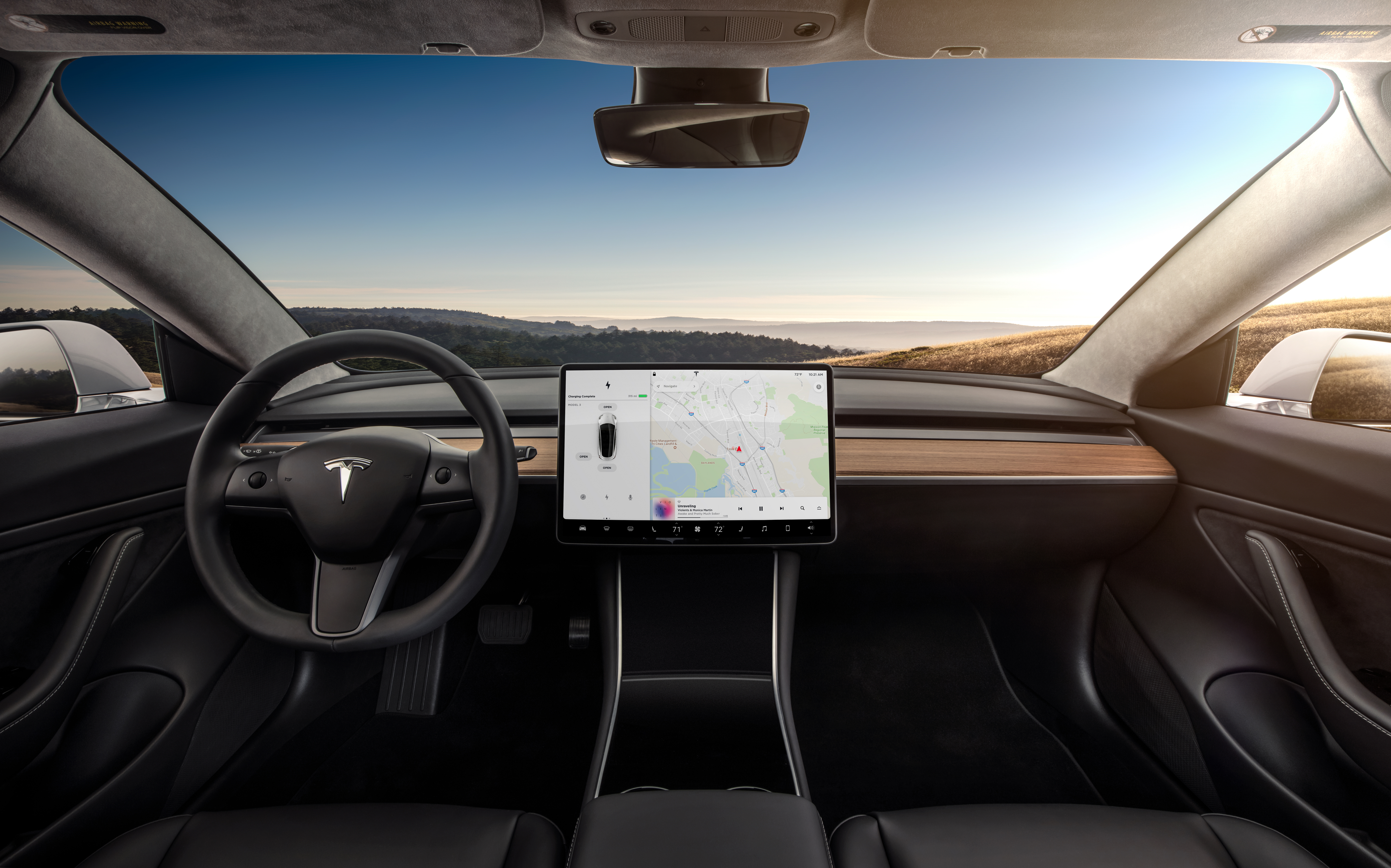 Tesla S Model 3 Interior Even The