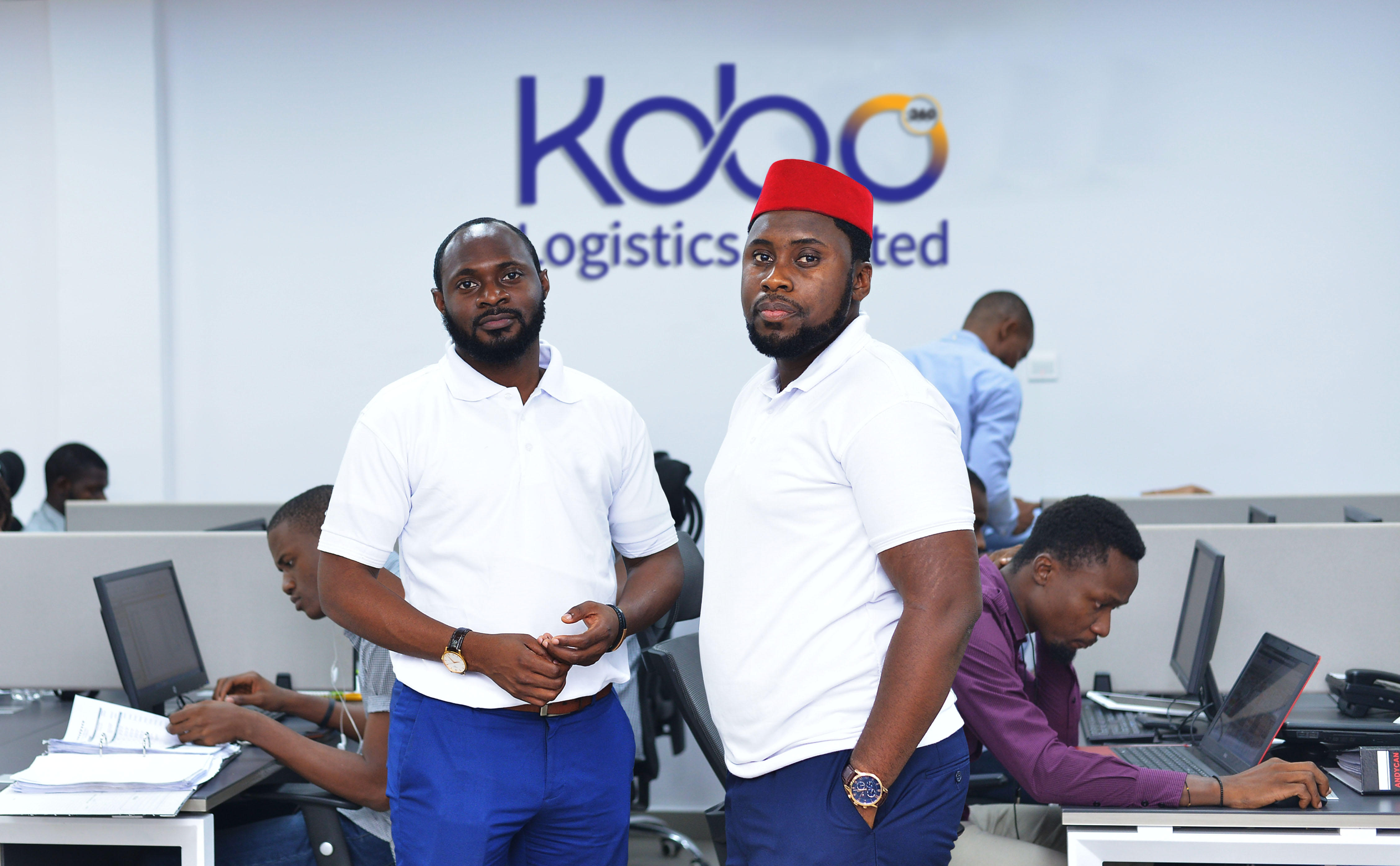 Obi Ozor Ife Oyedele II Kobo360 Co Founders Office Shot