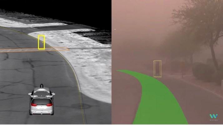 ดูรถที่ขับเคลื่อนด้วยตนเองของ Waymo ทดสอบเซ็นเซอร์ใน haboob thumbnail