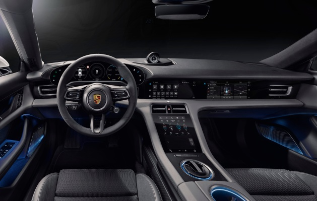 Inside the Porsche Taycan's minimalist, all-digital interior thumbnail