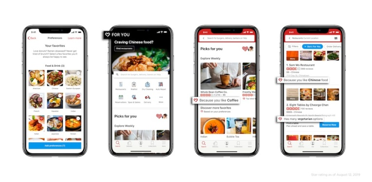 Yelp will let users personalize their homepage and search results