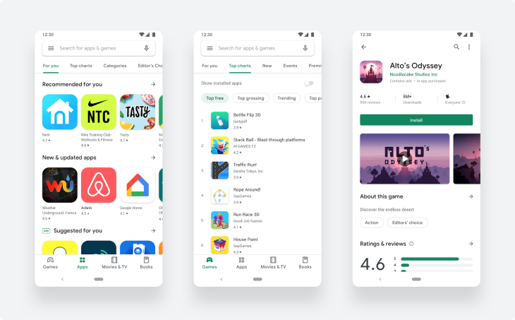 Google updates to a cleaner, simpler Play Store design [Updated ...