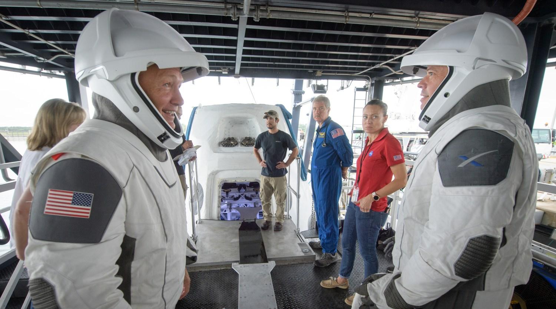Астронавт NASA Дуг Херли и Боб Бенкен из SpaceX
