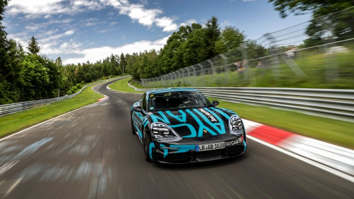 Four Door Sports Cars >> Porsche Taycan Sets Fastest 4 Door Electric Car Record At