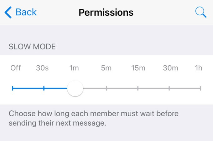 telegram slow mode groups