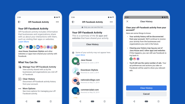 Facebook unveils new tools to control how websites share your data for ad-targeting