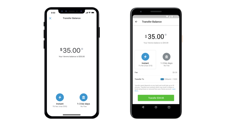 Venmo Launches Instant Transfers To Bank Accounts Techcrunch