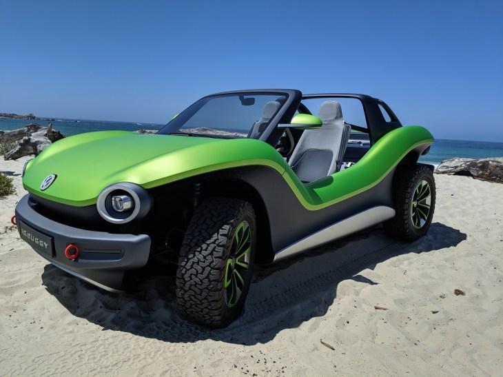 Driving Volkswagen S All Electric Id Buggy Concept Techcrunch