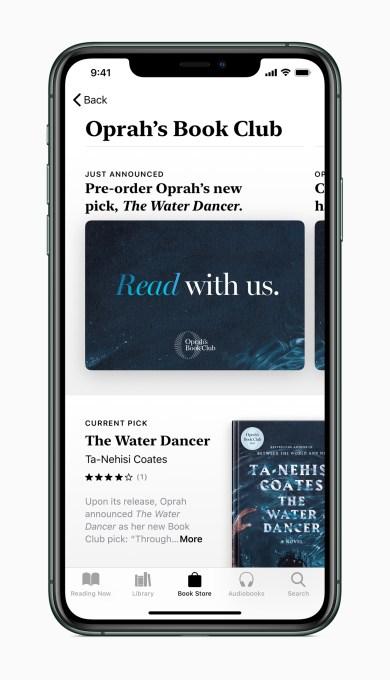 Apple iphone11pro max midnight green oprahs book club screen 092319