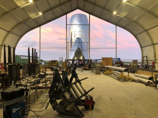 SpaceX's orbital Starship prototype construction progress detailed in new photos