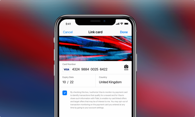 SDK Fidel Mobile ios  Fidel lève 18 millions de dollars pour permettre aux développeurs de s'appuyer sur les données de paiement de Visa, MasterCard et Amex Fidel Mobile SDK ios