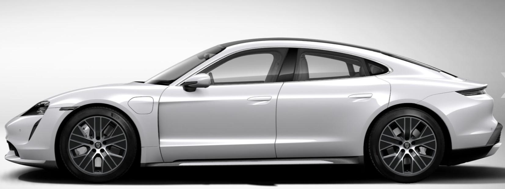 Porsche Taycan Turbo white metallic