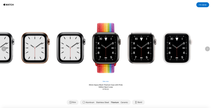 Screen Shot 2019 09 10 at 3.32.34 PM - Apple will now let you pick your own band color with launch of 'Apple Watch Studio'