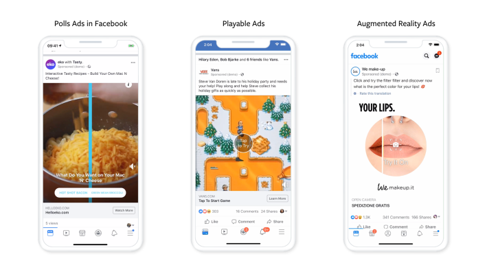 Facebook expands its playable and AR ad formats – TechCrunch