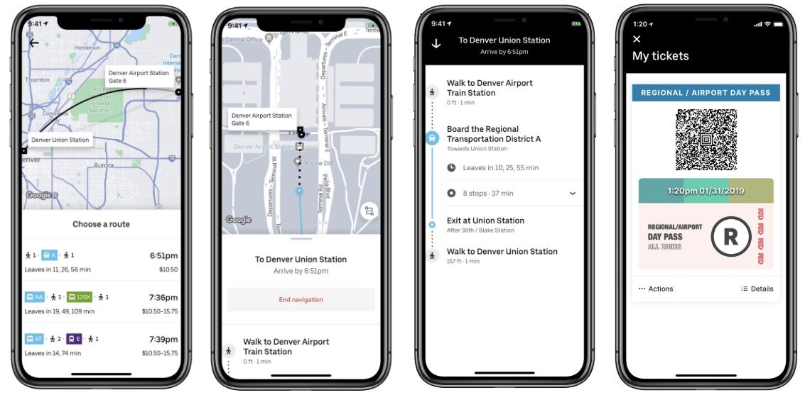 Uber Transit Directions