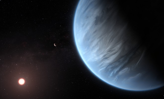 Hubble spots liquid water on a 'super-Earth' 110 light-years away