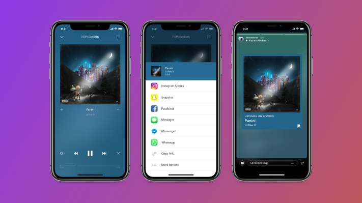 Pandora now lets you share music and podcasts to your Instagram Stories