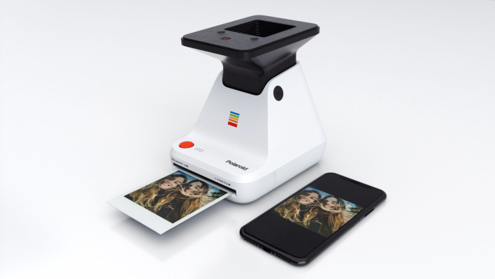 The Polaroid Lab uses the light from your phone's screen to turn digital photos into Polaroids