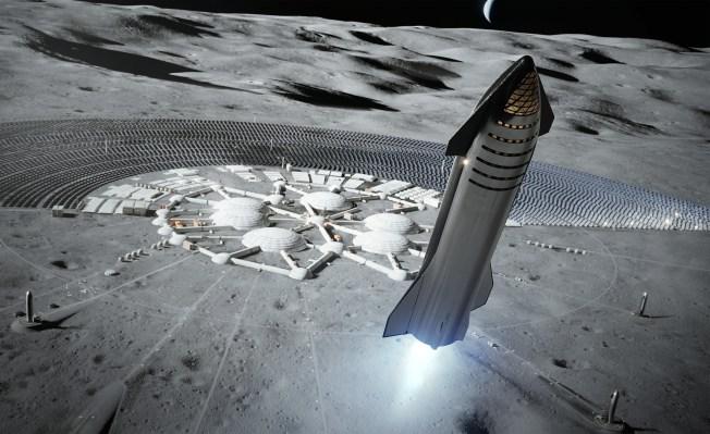SpaceX ต้องการลงจอดยานอวกาศ Starship บนดวงจันทร์ก่อนปี 2022 จากนั้นขนส่งสินค้าวิ่งเพื่อลงจอดมนุษย์ 2024 thumbnail