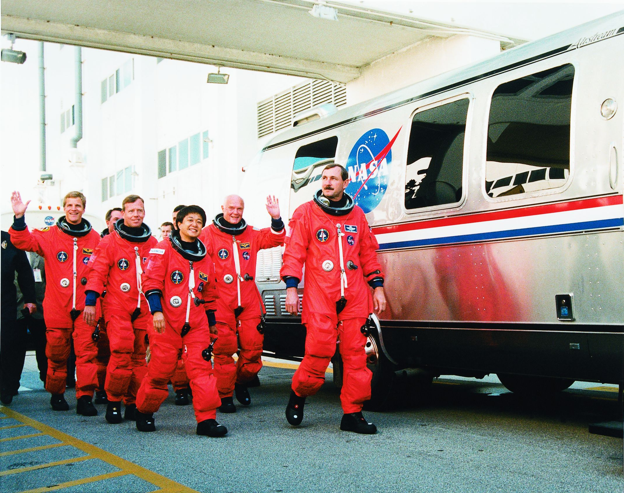 Astronauts and Astrovan NASA Photo