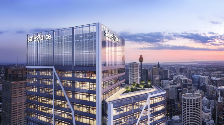 Salesforce is building an office tower in Sydney, pledging 1000 new jobs in next five years