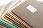 Credit cards, computer illustration.