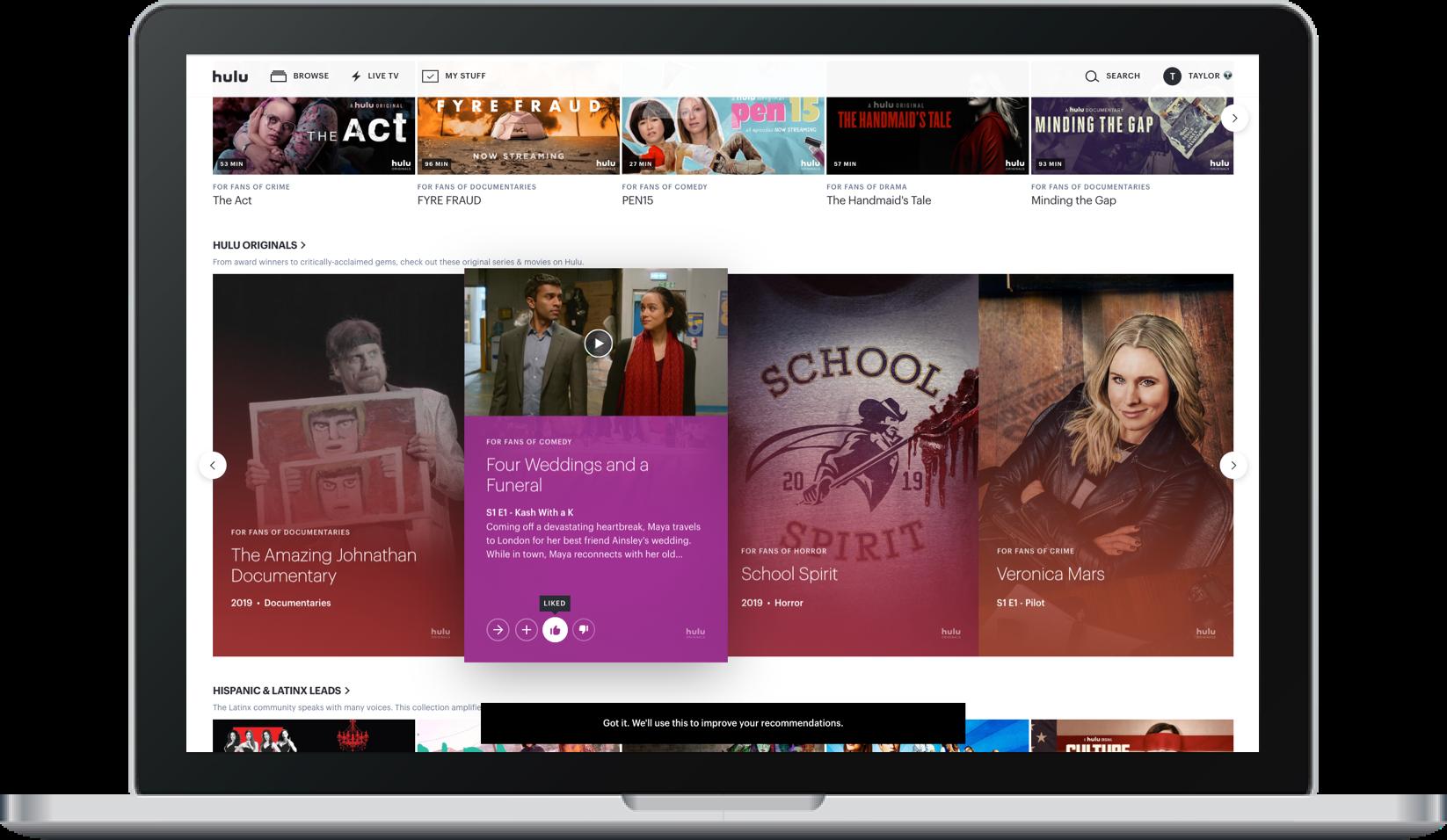 Hulu LikeDislike Web