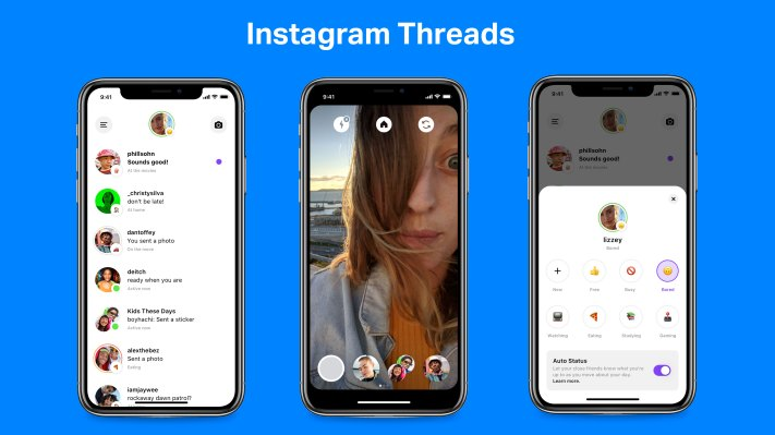 Instagram launches Threads, a Close Friends chat app with auto-status