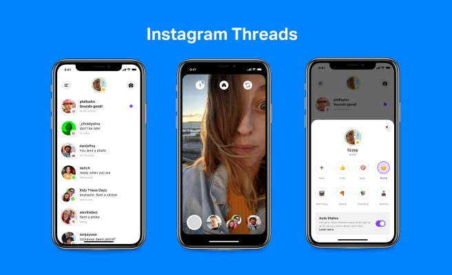Instagram launches Threads, a Close Friends chat app with auto-status – TechCrunch