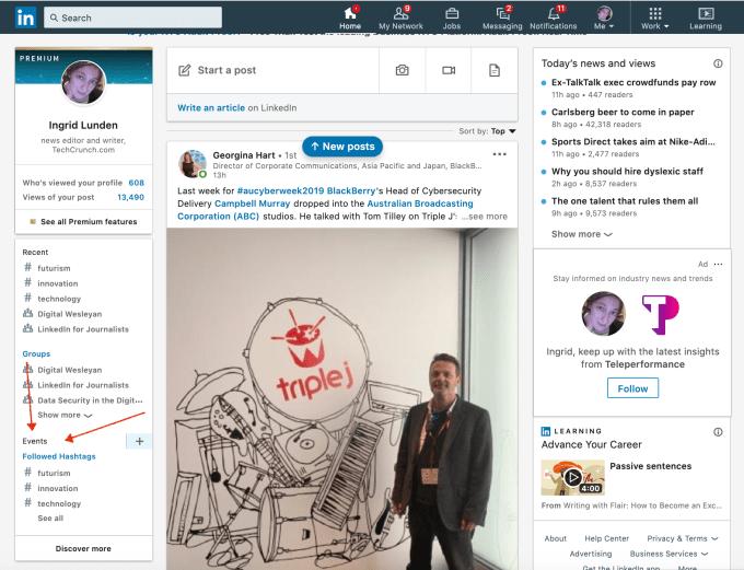LinkedIn presentó Events, nueva función para organizar eventos de networking