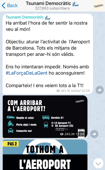 Catalan separatists have tooled up with a decentralized app