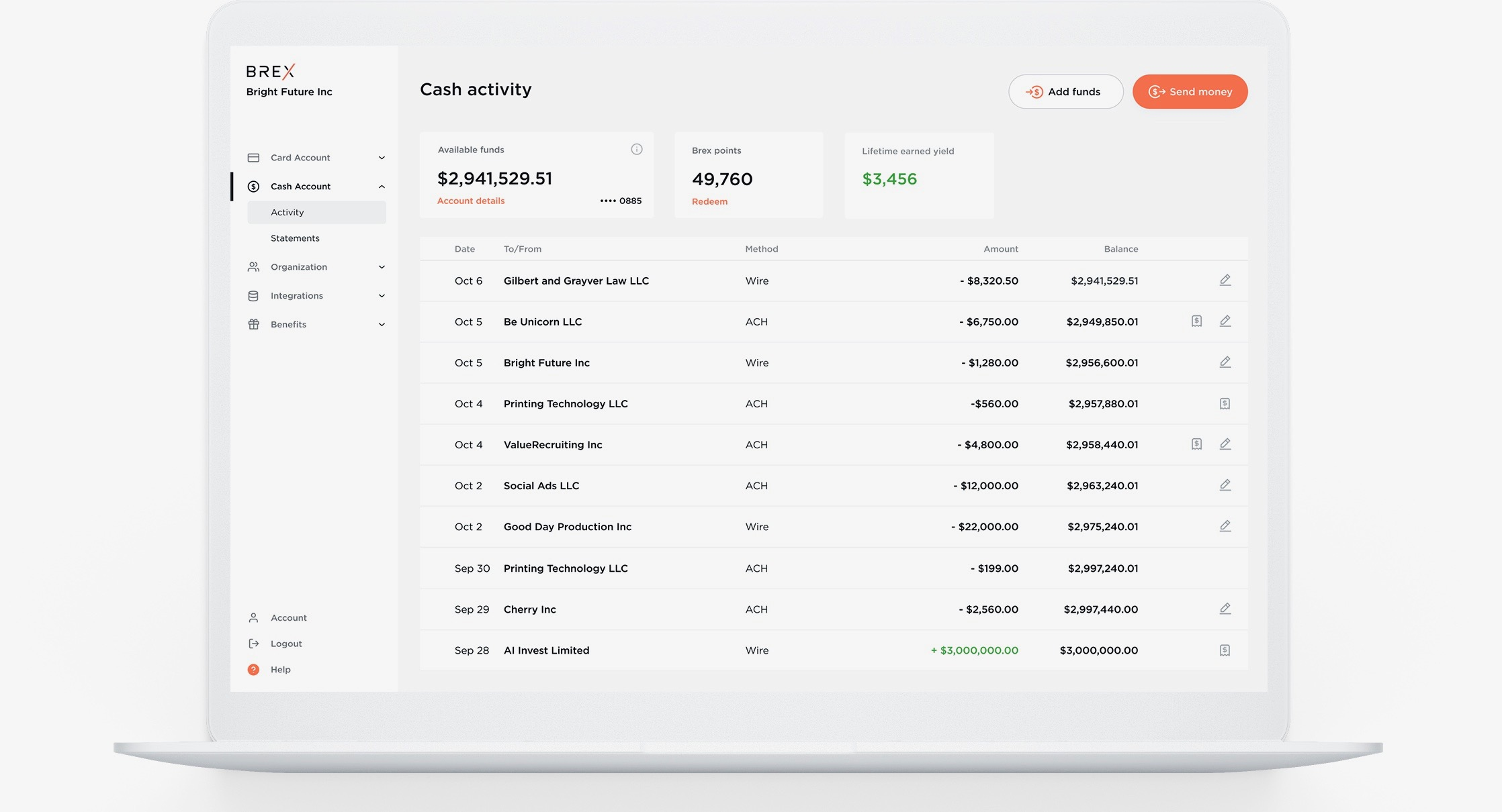 Brex wants to replace startup bank accounts with Brex Cash