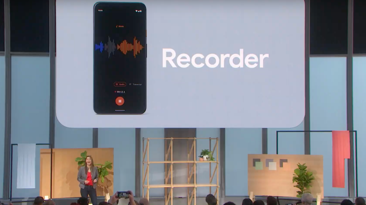 Google's new voice recorder app transcribes in real time
