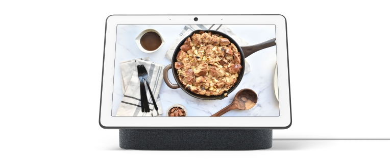 Ayesha Curry Google Assistant Fall Bread Pudding jpg?w=764.'