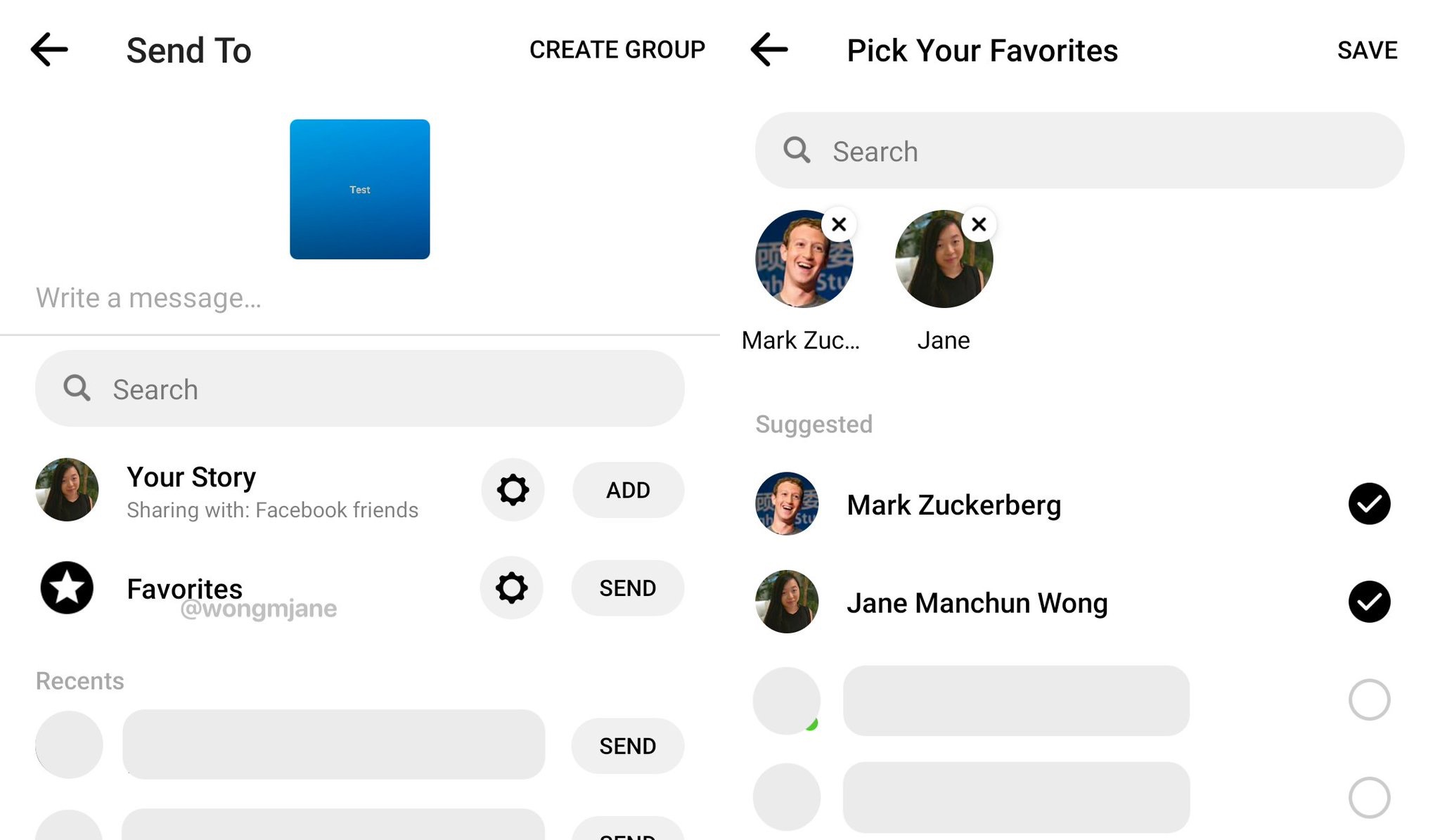 Add To Favorites facebook prototypes favorites for close friends microsharing