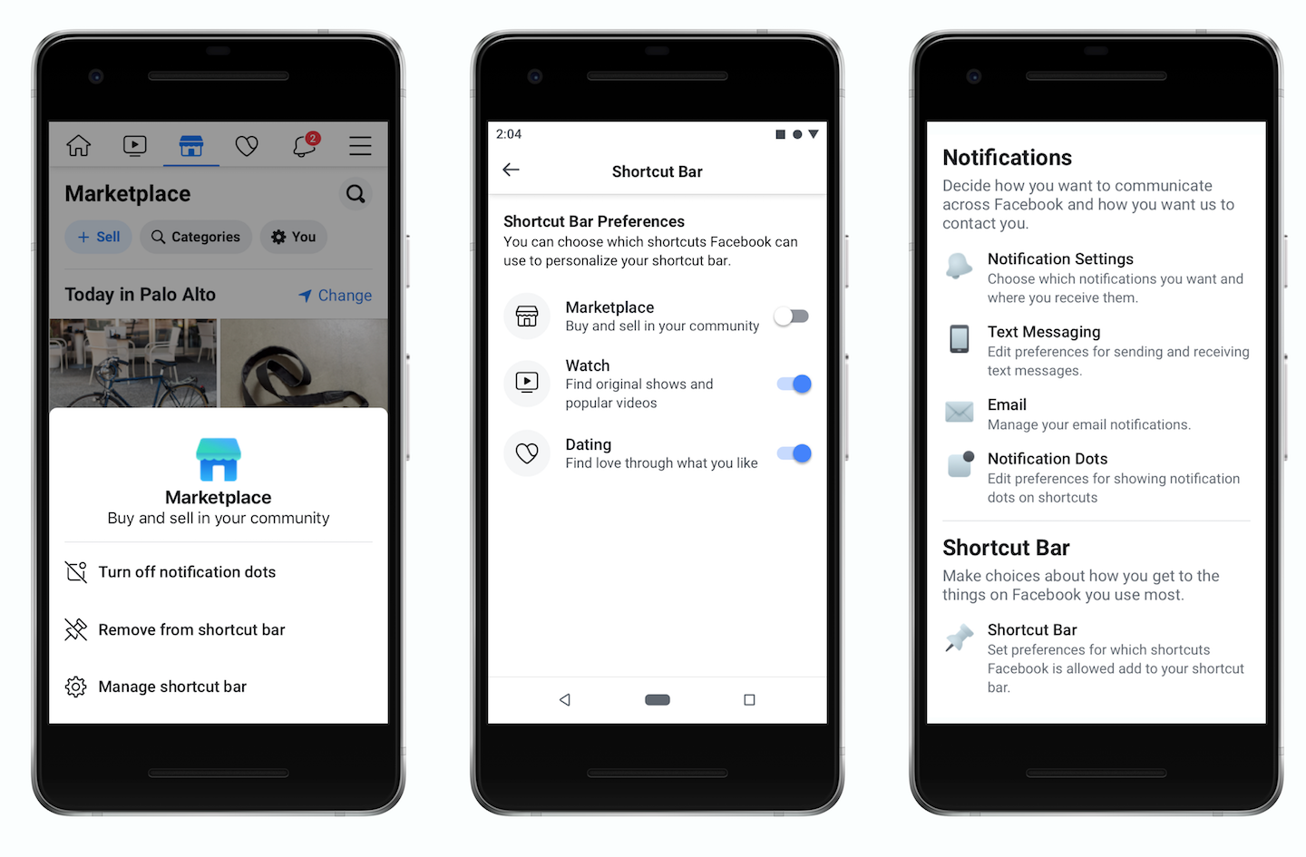 Facebook update lets users remove notification dots, manage navigation bar tabs